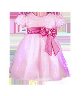 . Светлое платье с блестящим лифом для девочки