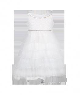 . Платье детское с кружевом на лифе и рюшами