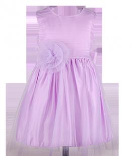 . Платье для девочки на выпускной с большим цветком