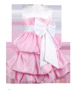 . Эффектное платье для девочки с бантом