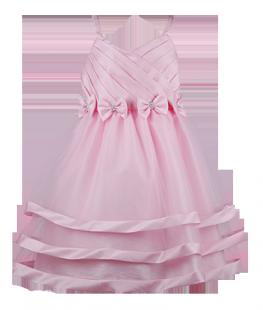 . Платье праздничное для девочки светло-розового цвета