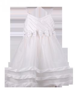 . Праздничное детское платье с бантиками на талии