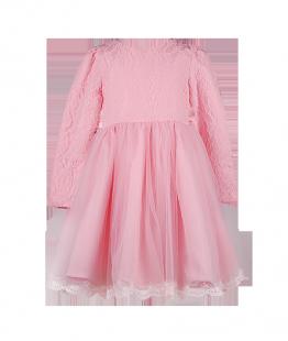 . Платье светло-розового цвета с кружевом для девочки