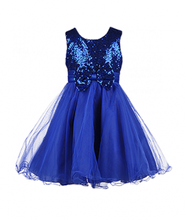 . Красивое платье для девочки с пайетками на лифе