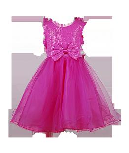 . Праздничное малиновое платье для маленькой девочки