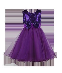 . Детское платье фиолетового цвета на утренник в детском саду