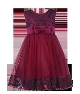 . Роскошное платье для девочки цвета марсала