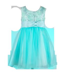 . Детское платье красивого мятного цвета на утренник